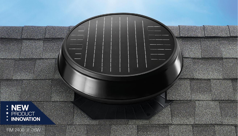 Rm2400 35watt Solarny Ventilator